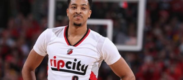 CJ McCollum poured in 28 points for the Portland Trail Blazers in a win over the Indiana Pacers on Friday. [Image via NBA/YouTube]