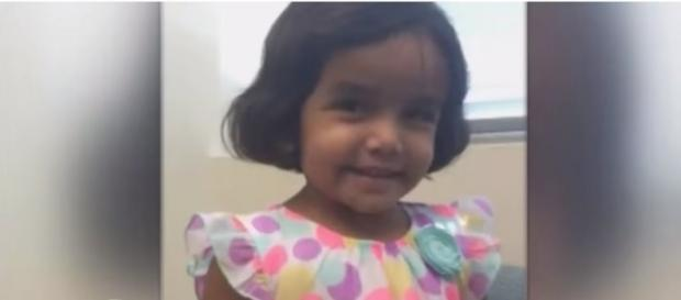 Missing toddler Sherin Mathews from Richardson, TX. (Image via CBSDFW/YouTube)