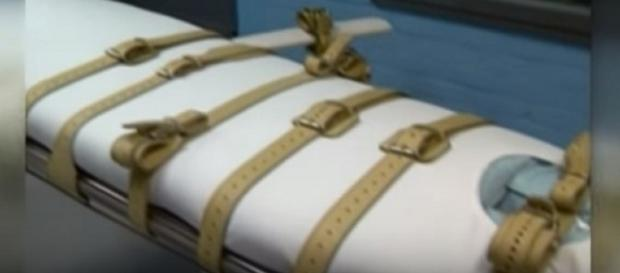 Ohio's death chamber. (Image from WKYC Channel 3/YouTube)