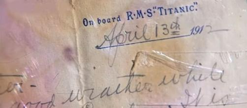 A letter written the day before the Titanic sank has sold on auction for a record price. [Image credit: euronews (in English)/YouTube]