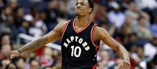 DeMar DeRozan led the way for the Toronto Raptors' win over the Philadelphia 76ers on Saturday night. [Image via NBA/YouTube]