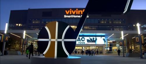 Oklahoma City Thunder vs Utah Jazz on Saturday night at Vivint Smart Home Arena [Image Credit: NBA Conference YouTube]