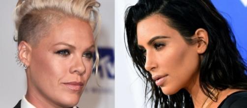 Pink poderia estar reabrindo guerra com Kim Kardashian