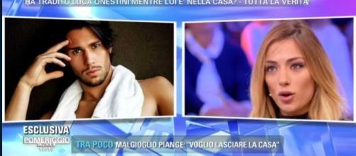 Soleil Sorgè e Luca Onestini: lettera in diretta