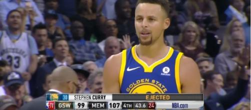 Stephen Curry and Kevin Durant were ejected from the game against the Grizzlies. [Image Credit: CliveNBAParody/YouTube]