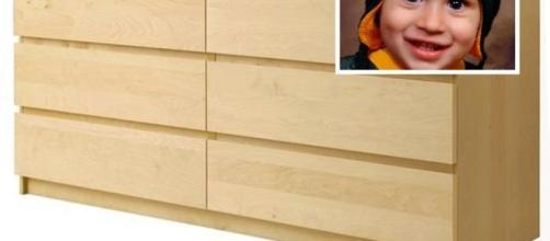 Un cassettiera Ikea ha ucciso 8 bambini dal 1989