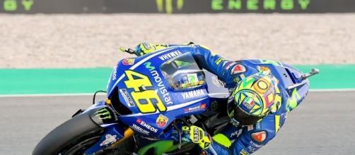 Valentino Rossi in sella alla sua moto