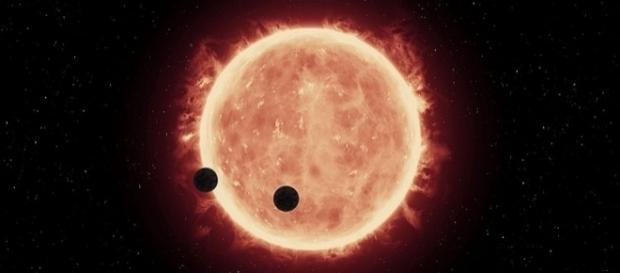An artist's impression of two Earth-sized worlds Image credit: / NASA, ESA, and G. Bacon / Wikimedia Commons