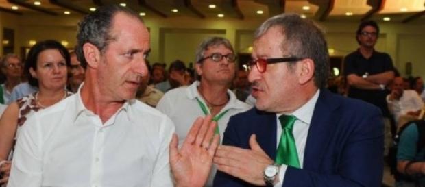 I governatori delle Regioni Veneto e Lombardia, Luca Zaia e Roberto Maroni