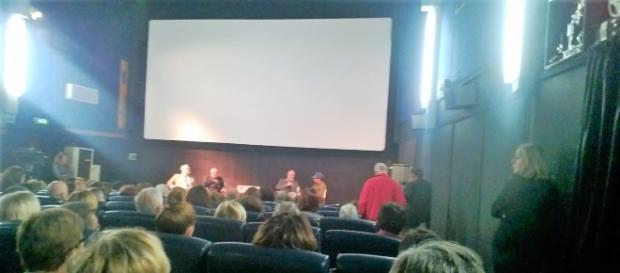 Il dibattito al termine del film con l'attore Elio Germano al Cinema Palma di Trevignano