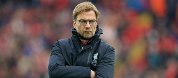Liverpool manager, Jurgen Klopp downcasted after his side suffered 4-1 loss against Tottenham Spurs. [Image Credit: Bola Motion/Flickr]