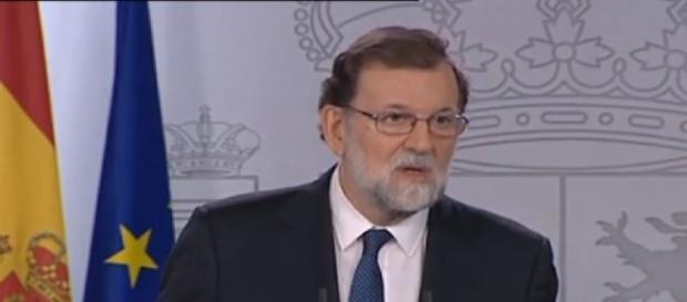 Mariano Rajoy ante la prensa el pasado sábado