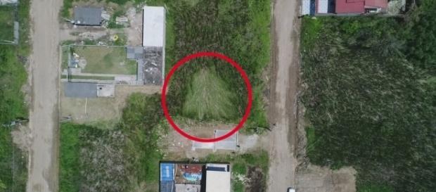 Suposto local do pouso extraterrestre em Peruíbe - SP. (Foto: Edilson Almeida/Prefeitura de Peruíbe)