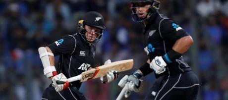 Latham and Taylor batting, 1st ODI, Mumbai: NZ beat India ... - hindustantimes.com