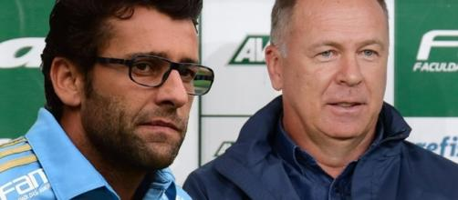 Alberto Valentim e Mano Menezes, respectivamente