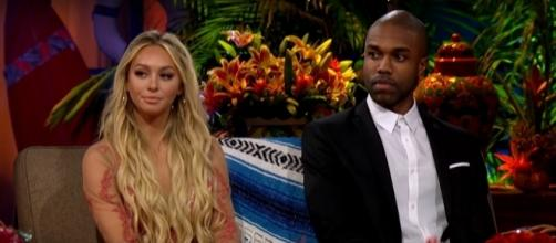 Corinne Olympios reunites with DeMario Jackson amid dating rumors. (Image Credit: Anna Marie/YouTube)