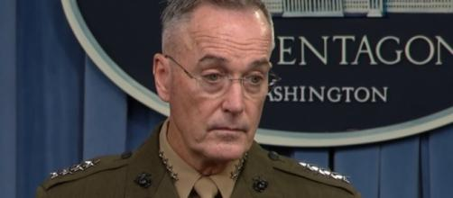 Gen. Joseph Dunford press briefing about Niger ambush / [Image credit: PBS Newshour/YouTube]