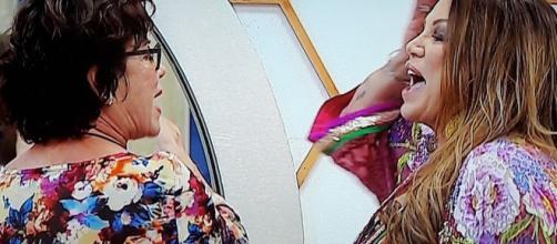 GF VIP: faccia a faccia ad alta tensione tra Corinne Clery e Serena Grandi