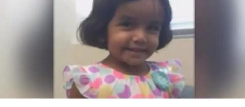 Missing toddler Sherin Mathews from Richardson, TX. Image credit: CBSDFW/YouTube