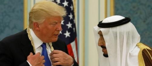 President Trump on his 1st foreign trip receives honor at Saudi ... - go.com