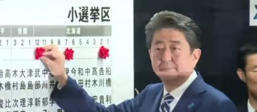 Prime Minister Shinzo Abe won Japan snap election on Monday. Image Credit: Al Jazeera English/ YouTube screencap
