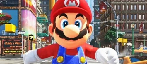 'Super Mario Odyssey' theme song lyrics are printed on the box (image source: CommunityGame/YouTube)