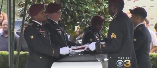 U.S. Army sergeant La David Johnson laid to rest | Image Credit: CBS Philly | YouTube