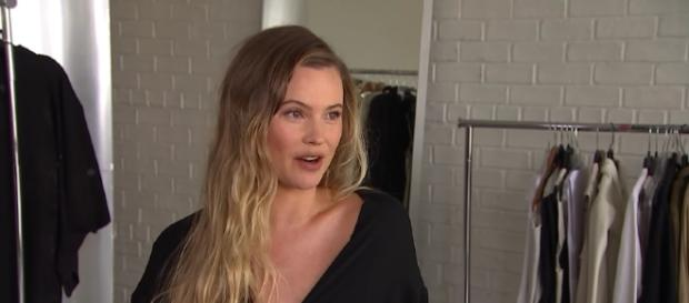 Behati Prinsloo talked about pregnancy cravings on social media. Image credit: AccessHollywood/YouTube