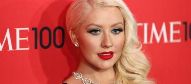 Christina Aguilera arrives for the Time 100 gala. (Image by Yaya Lee via Flickr)