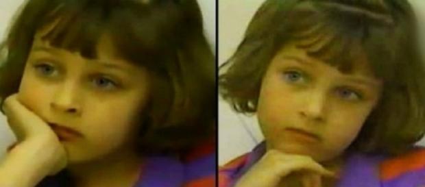 Elizabeth em documentário durante sua infância