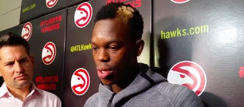 Atlanta Hawks guard Dennis Schroder could eventually be traded because of alleged locker room issue. [Image via atlhawksfans/YouTube screencap]