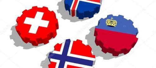 Banderas de miembros de EFTA en engranajes — Foto de stock ... - depositphotos.com