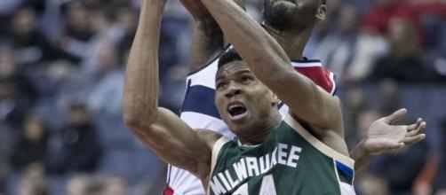 Giannis Antetokounmpo | Image via Keith Allison/Flickr