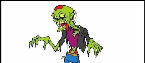 Immagine di uno zombi, i morti viventi che terrorizzano gradi e piccini.