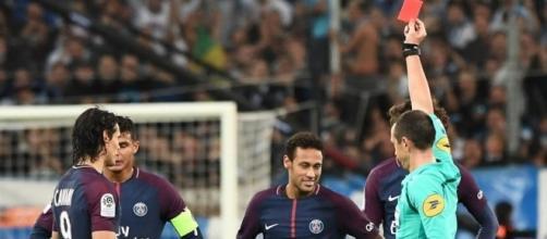 Neymar expulsé pour son premier OM-PSG - leparisien