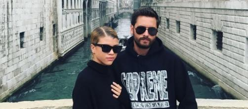 Scott Disick and Sofia Richie. (Image via Instagram/Sofia Richie)
