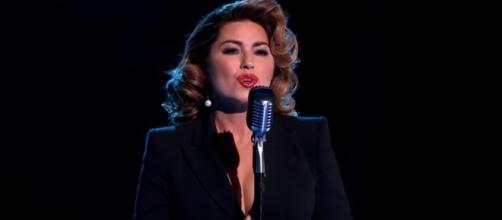 Shania Twains performed on the Oct. 23 episode of 'Dancing With the Stars.' -- YouTube screen capture / ABC