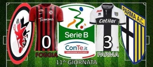 Terminato 0-3 il match dell'11^ giornata di Serie B tra Foggia e Parma