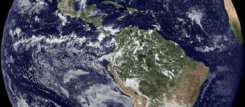 The Earth from space. [Image Credit: NASA/ Wikimedia Commons]