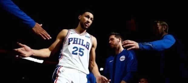 Ben Simmons recorded his first career triple-double in Philadelphia's win over Detroit on Monday night. [Image via NBA/YouTube]