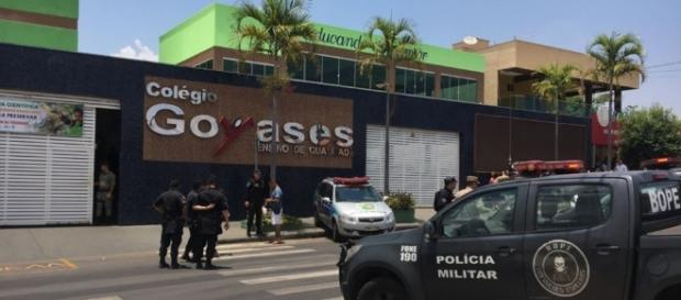 Colégio Goyases, em Goiânia (GO). Ataque a tiros se inspirou em Realengo e Columbine