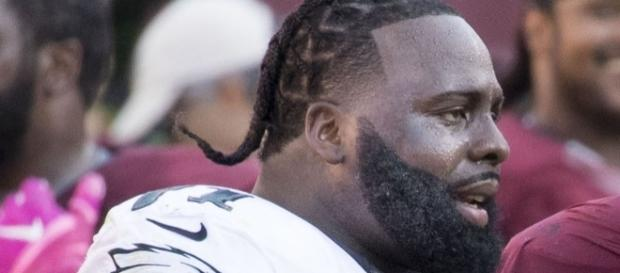 Jason Peters 2016 [Image by original: Keith Allison, derivative: Diddykong1130  Wikimedia Commons  Cropped   CC BY-SA 2.0 ]