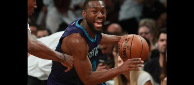 Kemba Walker's 19 points helped lead the Hornets past the Nuggets on Wednesday night. [Image via NBA/YouTube]