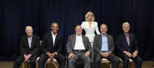 Lady Gaga joined five living presidents to raise funds for storm victims at One America Appeal. xoxo, Gaga/Twitter