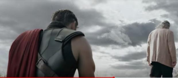 "Thor reunites with his father Odin in the latest TV spot for ""Thor: Ragnarok."" [Image Credit:Marvel Entertainment/YouTube]"
