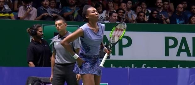 Venus Williams in Singapore 2017. (Image Credit: WTA official channel /YouTube screencap]