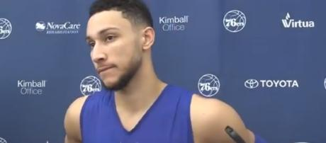 Ben Simmons 76ers vs Grizzlies Pregame Interview Image - DaHoopSpot Productions | YouTube
