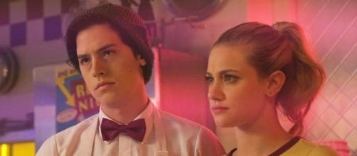 "Cole Sprouse and Lili Reinhart star as Jughead and Betty in ""Riverdale."" (SpoilerTV/The CW)"