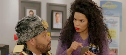 """Colton Dunn and America Ferrera star as Garrett and Amy in """"Superstore."""" (Superstore/YouTube)"""