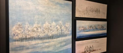 Conjunto de cuadros que decoraban una de las paredes de la galería